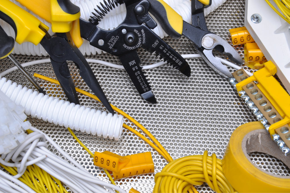 Tools And Component For Electrical Installation On Metal Surface